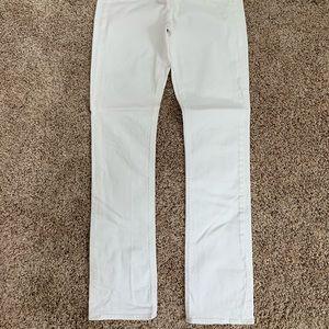 J.Crew Straight Leg Matchstick White Jeans